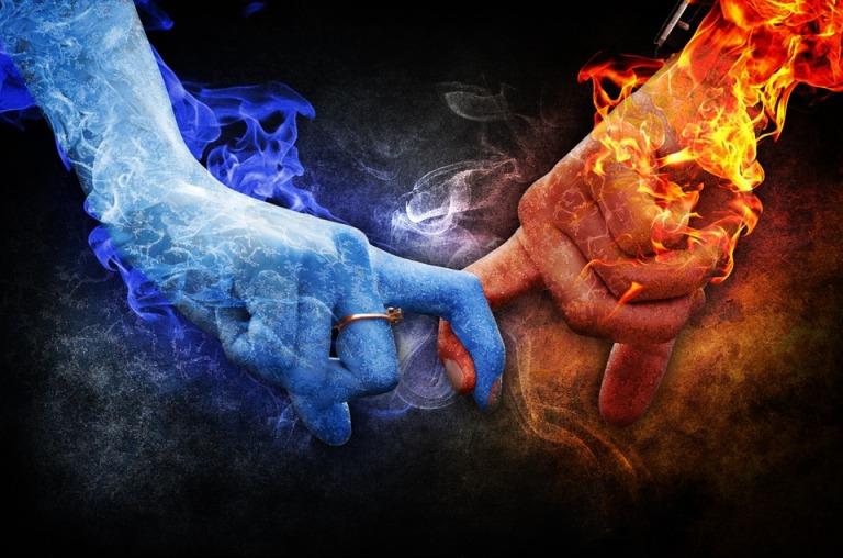 Love Romance Feelings Ice Fire Relationship