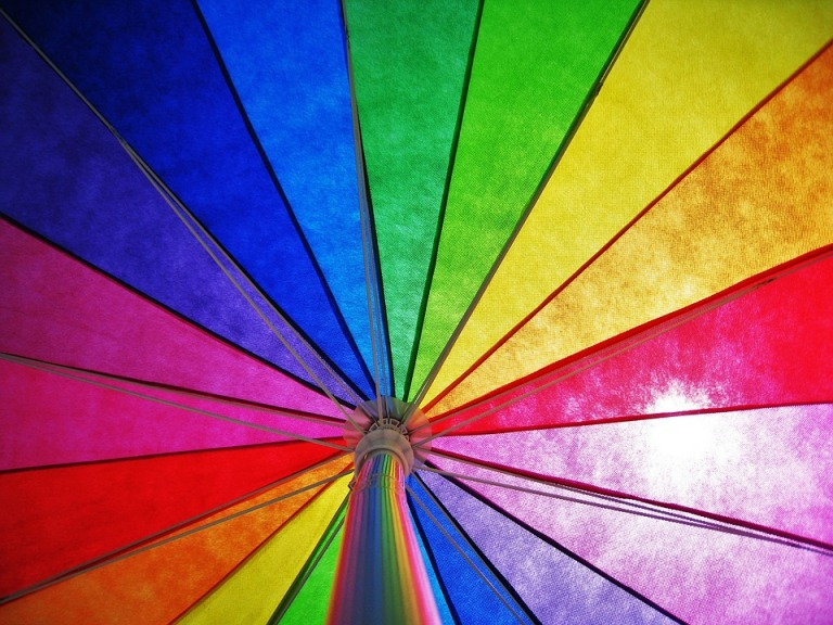Sun Rainbow Colors Sunny Colorful Parasol